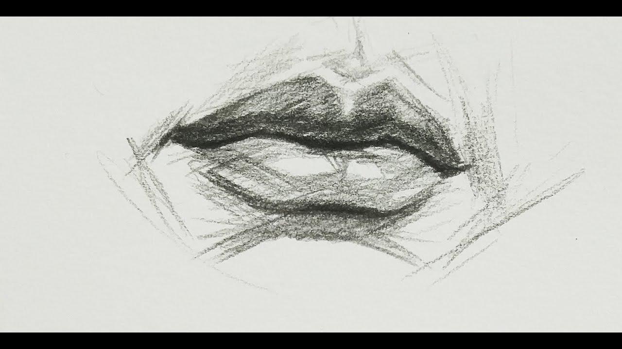 15' vẽ trước khi ngủ / luyện vẽ Môi / How To Draw  Lip / DP Truong