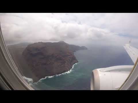 Landing on Runway 20 at St Helena Airport (HLE/FHSH) Airlink Flight SA8131 18 November 2017