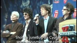 The Rolling Stones - SuperBowl XL Press Conference (2006)
