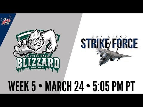 Week 5 | Green Bay Blizzard at San Diego Strike Force
