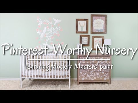 Nursery Transformation With Stencils By Cutting Edge Stencils And Modern Masters' Paint!