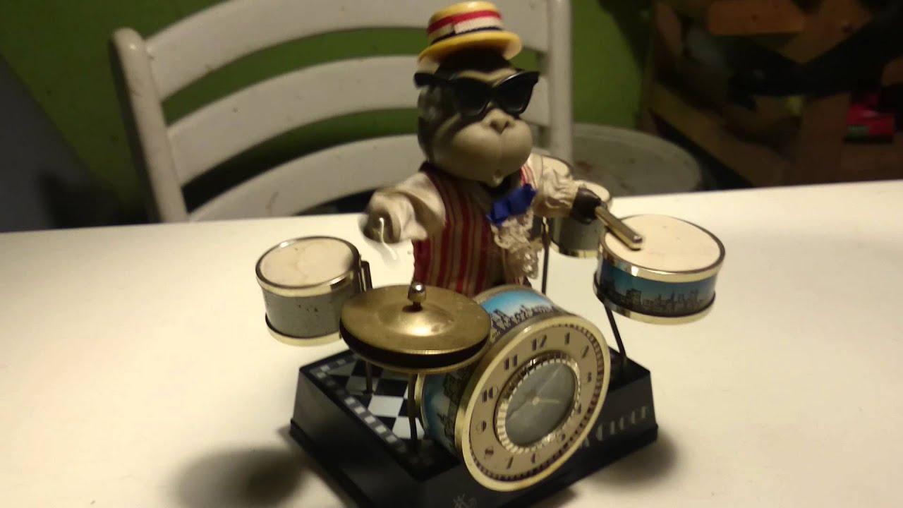 Meister Anker Drum Clock Affe Am Schlagzeug Youtube