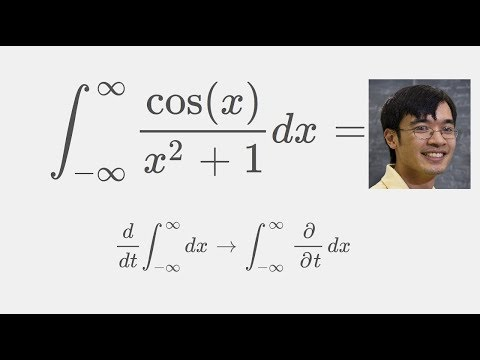 A beautiful result in calculus: Solution using Feynman integration ( Integral cos(x)/(x^2+1) )