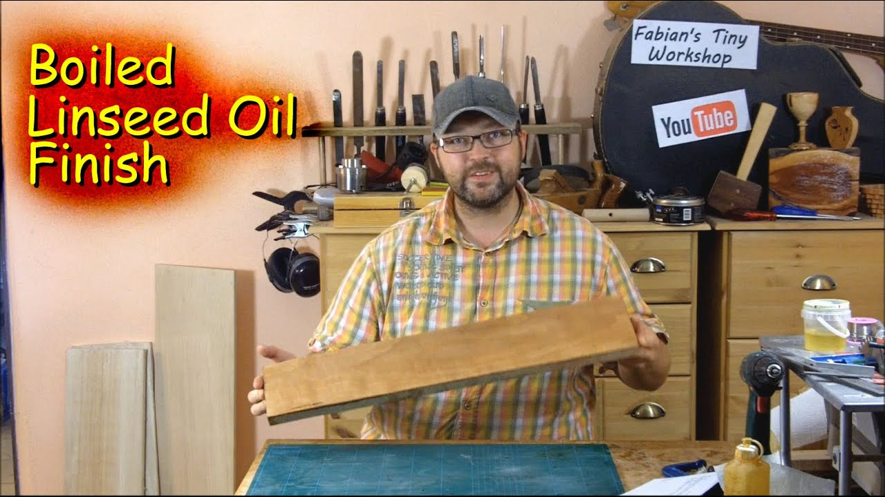 How To Apply A Boiled Linseed Oil Finish Youtube