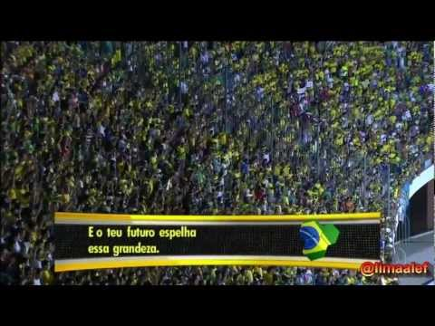 Exciting Brazilian Anthem in Biggest World Football Classic ( BRAZIL x ARGENTINA )