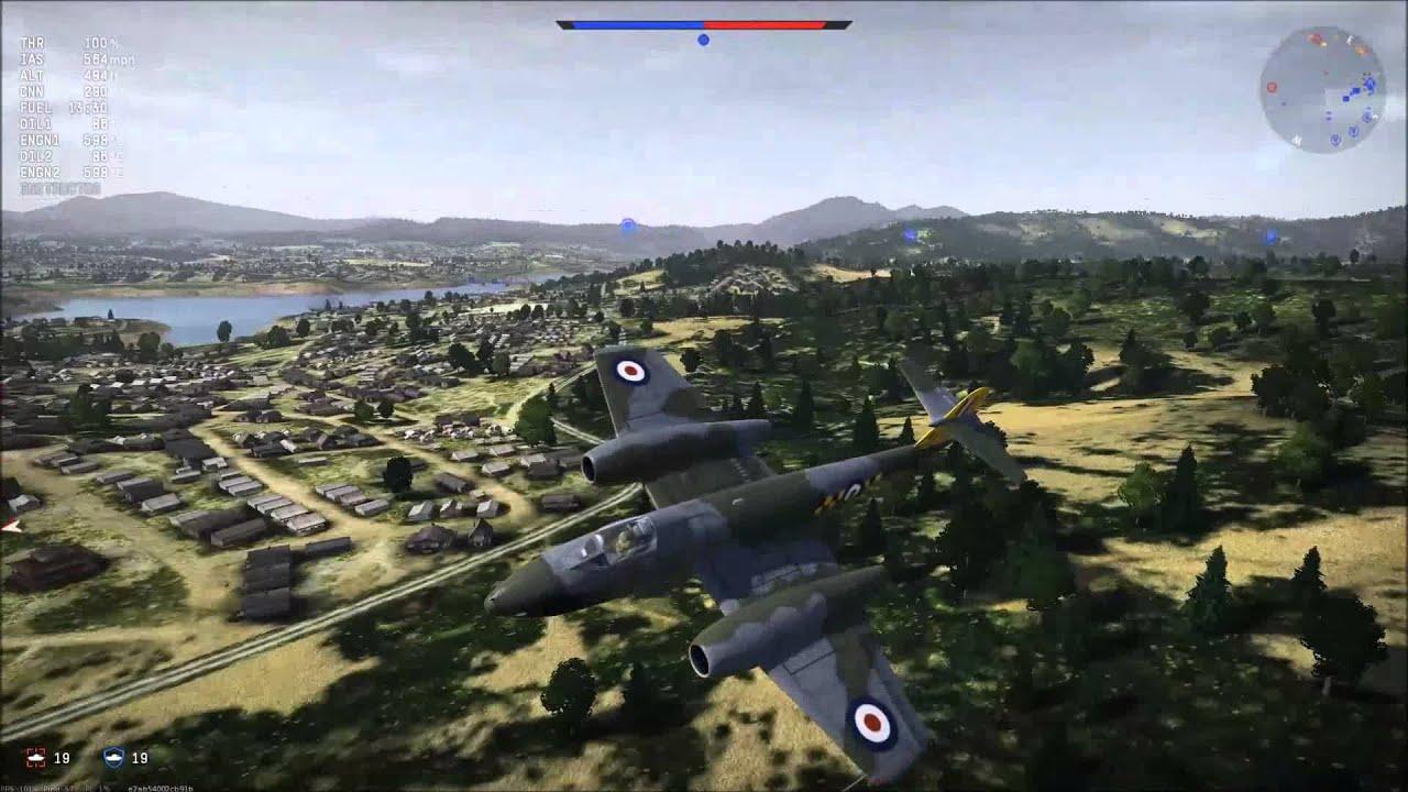 War thunder meteor f.8 gameplay