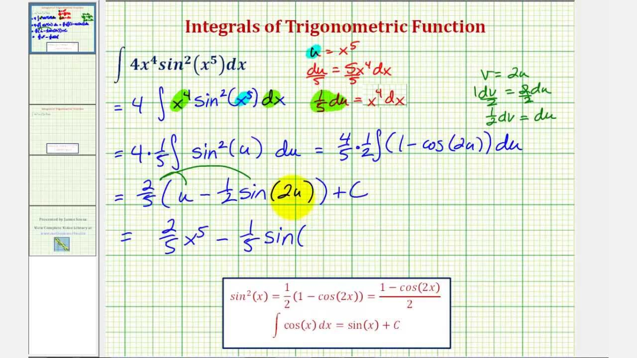 Ex 2: Trigonometric Integration