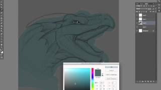 Dragon Rawr Sketch