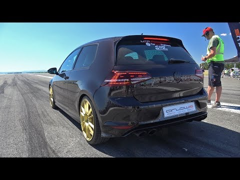 Watch This RS3-Swapped, 591-HP Volkswagen Golf R Demolish a