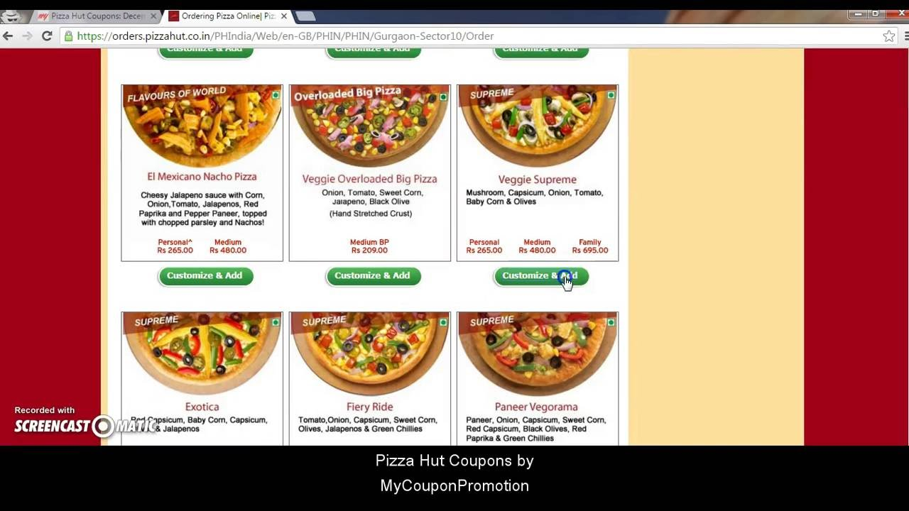 How To Use Pizzahut Coupon Codes Youtube