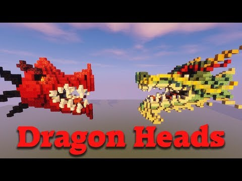 How To Build A Dragon Head In Minecraft | Timelapse Tutorial [Download]