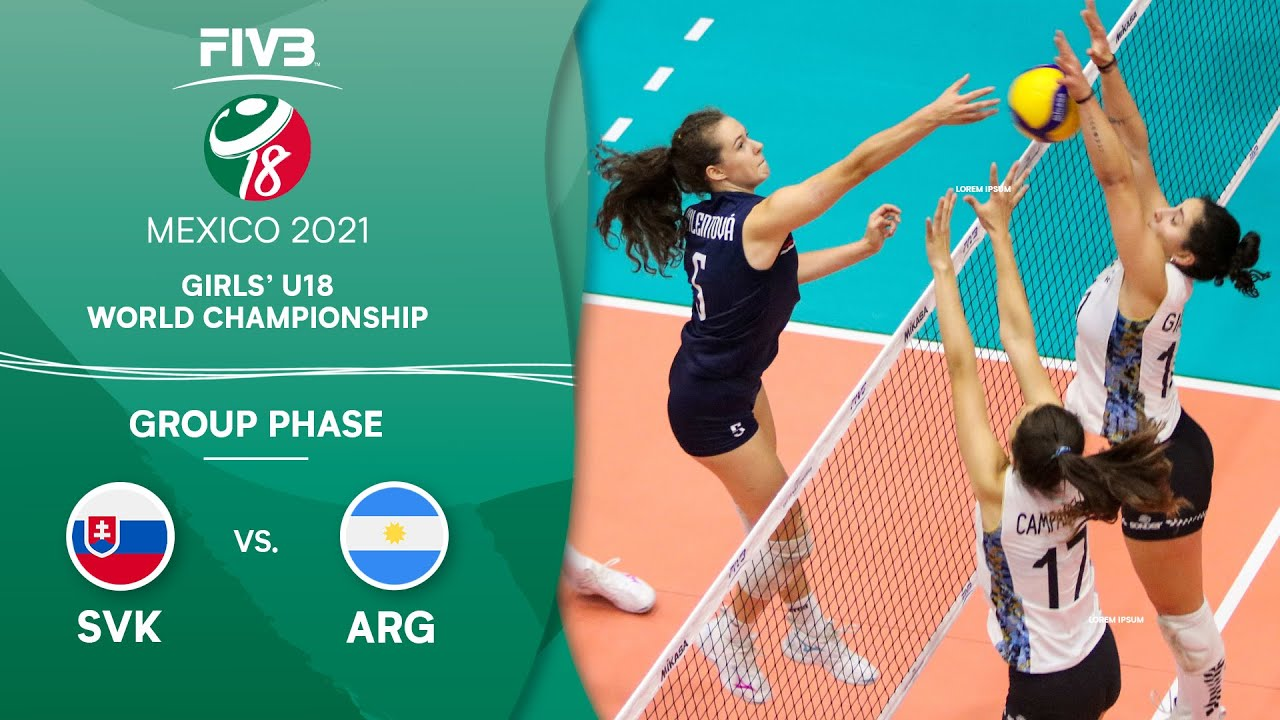 Download LIVE 🔴 SVK vs. ARG - Group Phase | Girls U18 Volleyball World Champs 2021