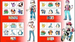 All of Red's Pokémon