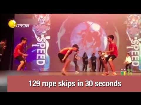 Skipping rope fast like a sewing machine: Shanghai students broke world record