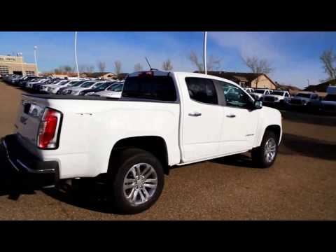 Summit White 2017 GMC Canyon SLT for sale in Medicine Hat, AB!