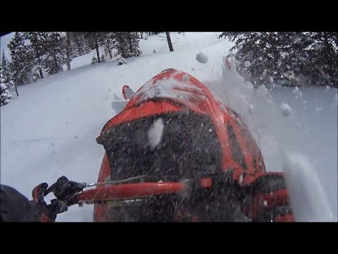 Black Hills White Gold- April 2018 Snowmobiling After Spring Storm.