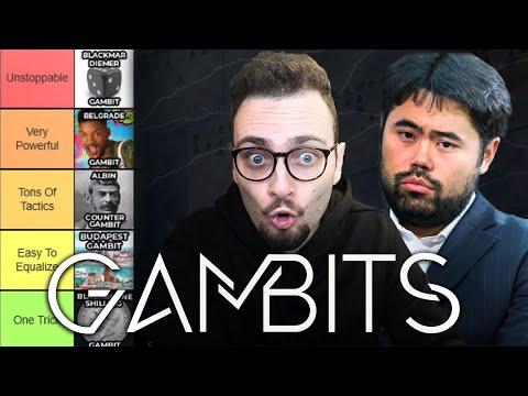 The Chess GAMBITS Tier List ft. Hikaru Nakamura