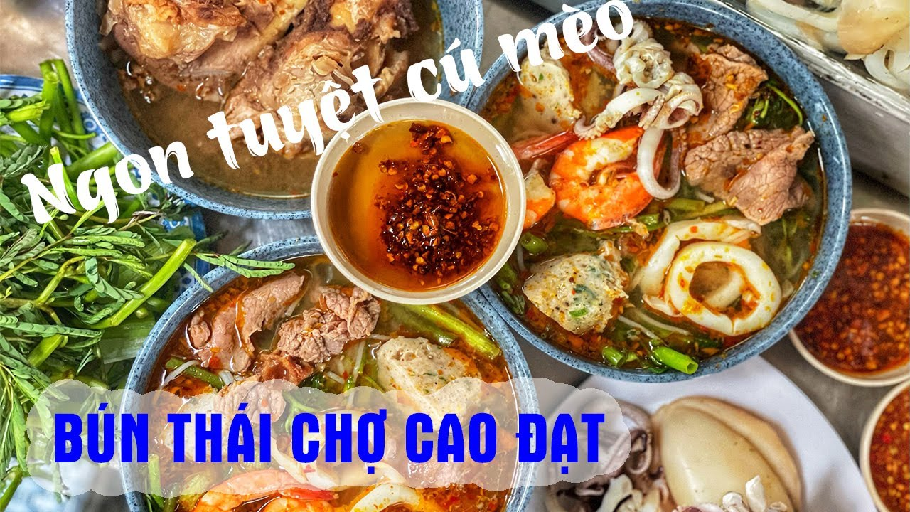 Ngon xoắn lưỡi với TÔ BÚN THÁI 45k nổi tiếng chợ Cao Đạt Quận 5  | Địa điểm ăn uống