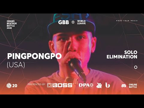 PingPongPo | Grand Beatbox Battle Online 2020 | Solo Elimination #1