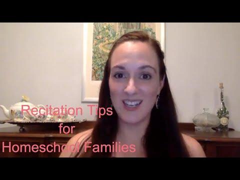 Recitation Tips For Homeschool Students