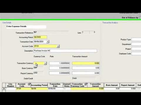 How To Manage Financials With Infor Sunsystems Youtube