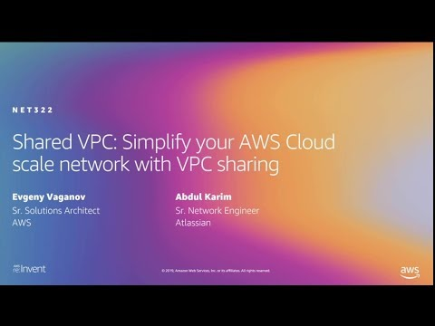 AWS re:Invent 2019: Shared VPC: Simplify your AWS Cloud scale network with VPC sharing (NET322-R1)