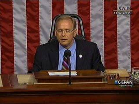 Congressman Jim Langevin Presides Over the House of Representatives