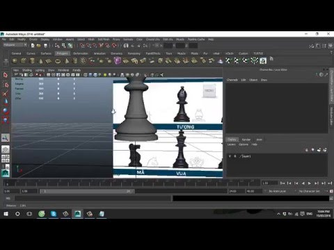 Model Pawn and Rook chess with Maya