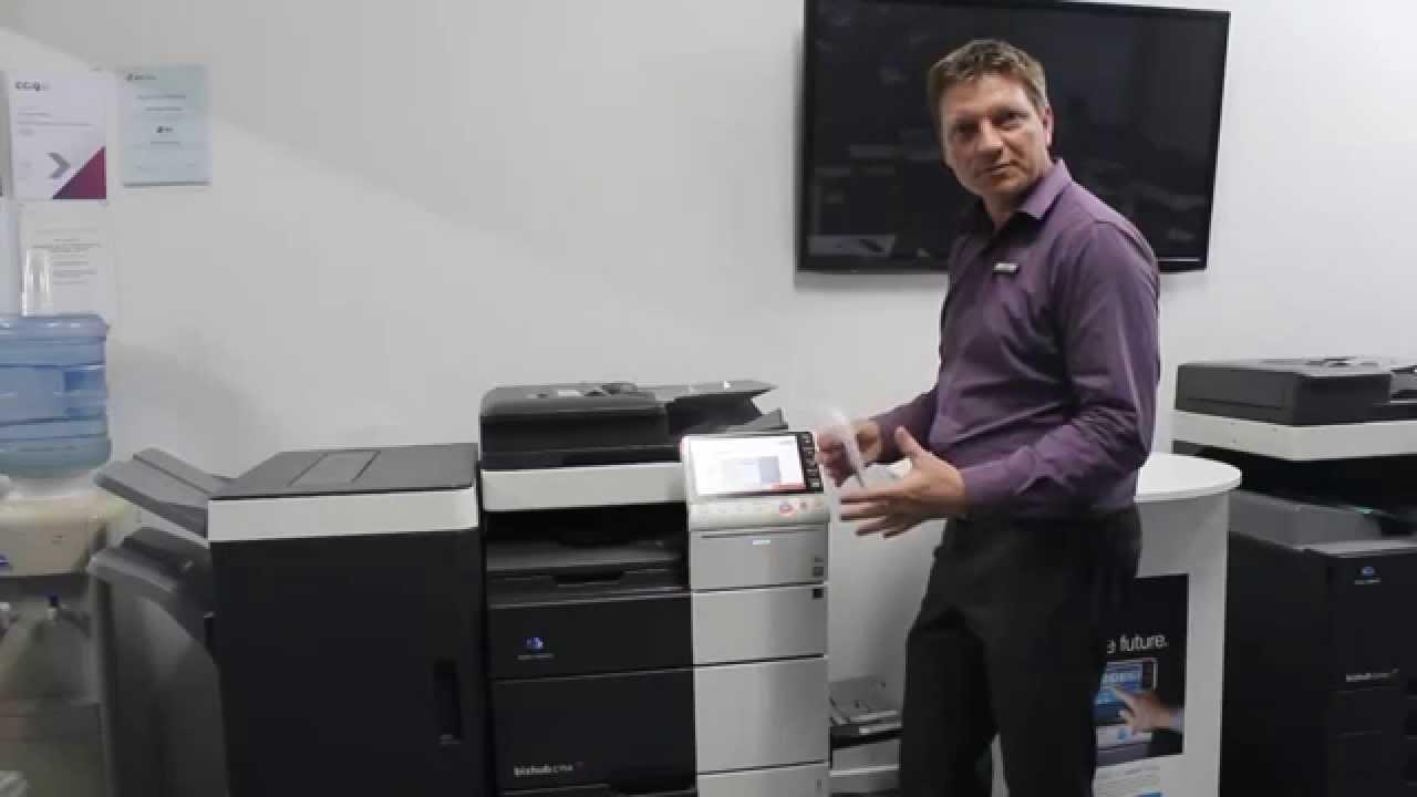 How to print on Thick Paper, Konica Minolta bizhub