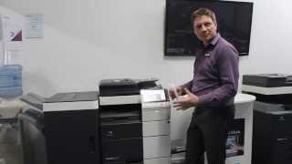 How to print on Thick Paper, Konica Minolta bizhub