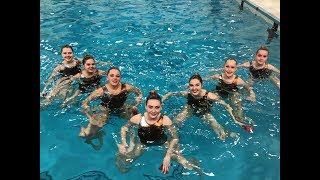 Synchronized swimming. Novice Routine Competition. 13-15