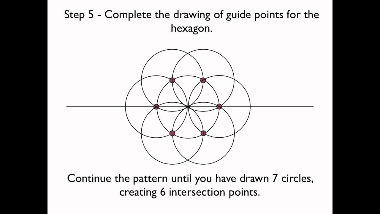 how to draw a perfect hexagon