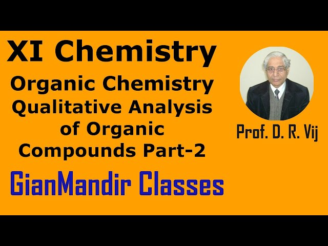 XI Chemistry | Organic Chemistry | Qualitative Analysis of Organic Compounds Part-2 by Ruchi Ma'am