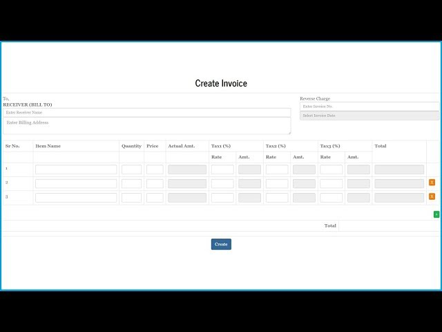 Invoice System Using Jquery PHP Mysql and Bootstrap - 4