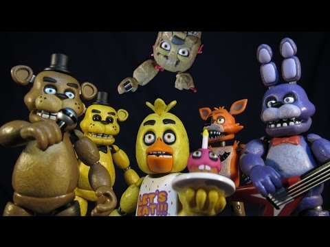 FUNKO FIVE NIGHTS AT FREDDYS ACTION FIGURE UNBOXING - THE ENTIRE FNAF SET