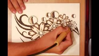 How To Create A Pyrography Project Of Flowers