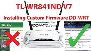 How To Flash Custom DD WRT Firmware in TP Link WR841ND V7 Router