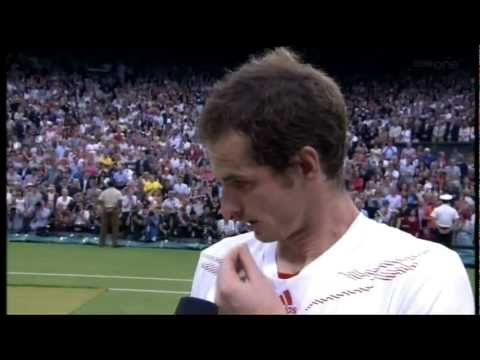 Andy Murray Interview after losing the Men's final at Wimbledon 2012