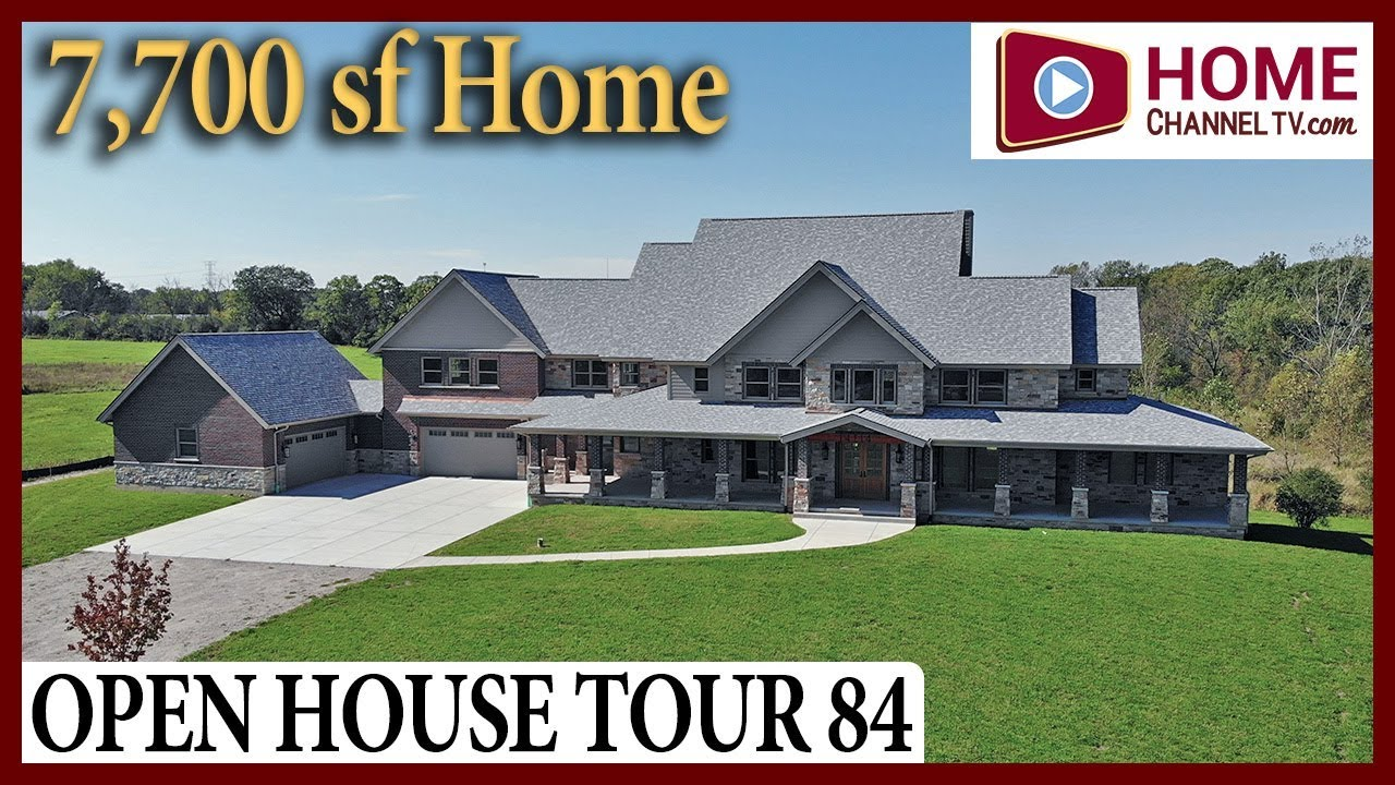Open House Tour 84 - Custom Home Walk-through Tour in Homer Glen IL - Home Channel TV