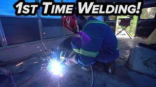 LEARNING TO WELD + COVERING SKOOLIE WINDOWS