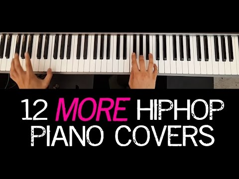 12 More Hip Hop Piano Covers w/ Synthesia (hiphop song medley)