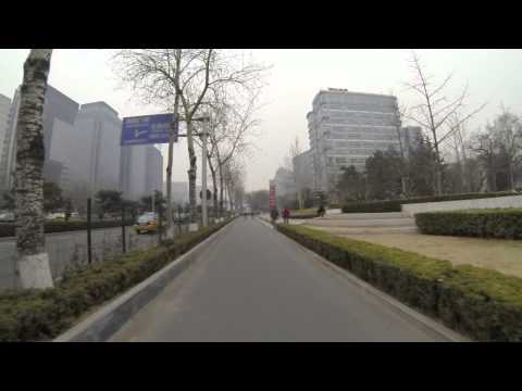 scooter ride Beijing POV 7 minutes March 2013