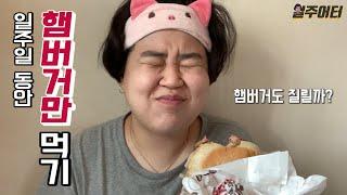 일주일 동안 햄버거만 먹어봤습니다. 햄버거 다이어트!