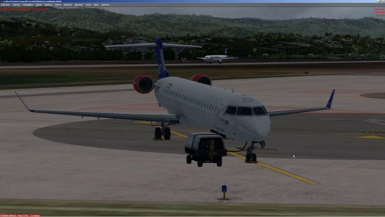 Prepar3D [P3D] v4 | Aerosoft | CRJ 700/900 X | Pilot2ATC | LFKJ - LIRA