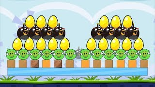 Angry Birds Bomb BOMBER SAVE GOLDEN EGG AFTER KICKING ALL BAD PIGS!