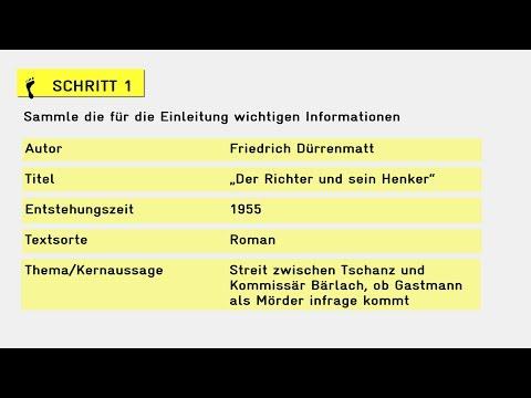 Anleitungsvideo Die Einleitung Einer Analyse Schreiben