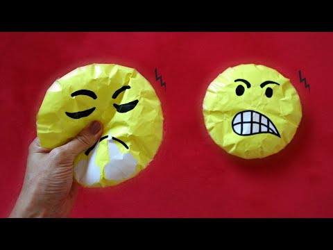 Angry emoji paper squishy DIY   How to make a squishy without foam   Paper squishy school supplies