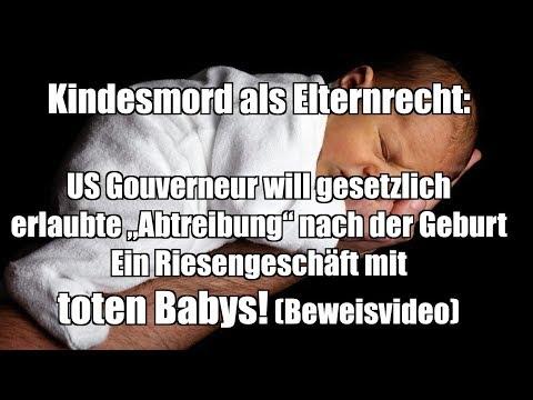 """Kindesmord als Elternrecht: US Gouverneur will gesetzlich erlaubte """"Abtreibung"""" nach der Geburt"""