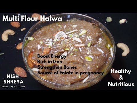 हलवा-|-multi-flour-halwa-recipe-|-great-source-of-energy-|-healthy-&-nutritious-halwa