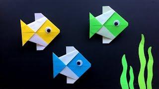 Origami Fisch basteln mit Papier - Origami für Kinder & Anfänger - Einfache DIY Bastelideen